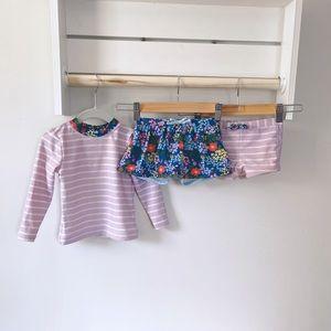 Hanna Andersson Swimwear Bundle Floral Size 90